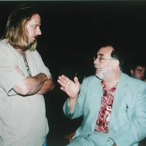 Don FauntLeRoy discussing a set up with Francis Ford Copolla