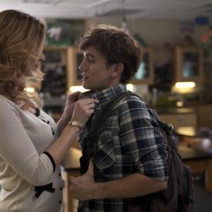 Still of Rebecca Mader and Jackson Rathbone in Aim High (2011)