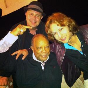 Edward Bass, Prince Cyrus, and Quincy Jones