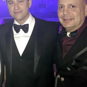 Jimmy Kimmel and Edward Bass at Rihanna's Diamond Ball