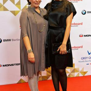 Kirsten Niehaus and Narges Rashidi at the Berlinale 2013 Medienboard