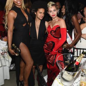 Laverne Cox, Miley Cyrus and Tyler Ford