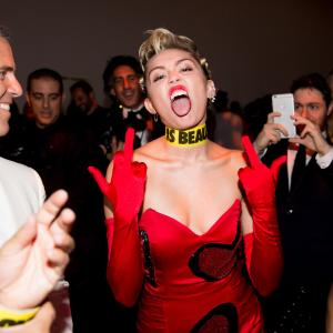 Andy Cohen and Miley Cyrus