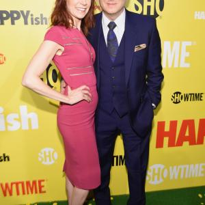 Michael Emerson and Carrie Preston at event of Happyish (2015)