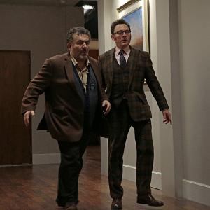 Still of Saul Rubinek and Michael Emerson in Person of Interest (2011)