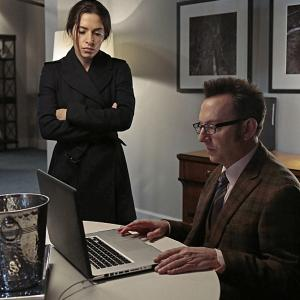 Still of Michael Emerson and Sarah Shahi in Person of Interest (2011)