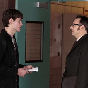 Still of Michael Emerson and Luke Kleintank in Person of Interest (2011)