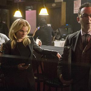 Still of Michael Emerson and Larisa Polonsky in Person of Interest (2011)