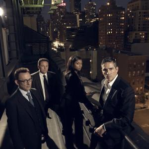 Still of Jim Caviezel, Kevin Chapman, Michael Emerson and Taraji P. Henson in Person of Interest (2011)
