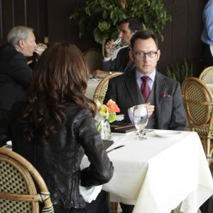 Still of Amy Acker and Michael Emerson in Person of Interest (2011)