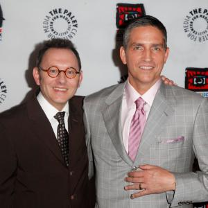 Jim Caviezel and Michael Emerson at event of Person of Interest (2011)
