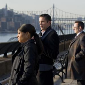 Still of Jim Caviezel, Michael Emerson and Taraji P. Henson in Person of Interest (2011)