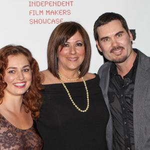 SANTA MONICA CA  MARCH 21 Actress Georgiana Jianu Director Diana Valentine and Actor Matthew Grant Godbey participate in the 14th Annual Independent Filmmakers Showcase Film Festival held at Laemmle Monica Theater on March 21 2012 in Santa Monica California Photo by Florin Galliano