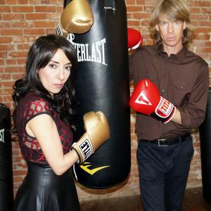 Gregory Graham at the Stables for Rock Steady Boxing NYLA fighting back against Parkinsons on 12714 with his wife Luciana Lagana