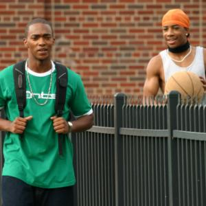 Still of Anthony Mackie and Little JJ in Crossover (2006)