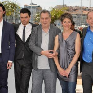 LR Actors Luke Evans Dominic Cooper director Stephen Frears Tamsin Greig and Bill Camp attend the Tamara Drewe Photo Call held at the Palais des Festivals during the 63rd Annual International Cannes Film Festival on May 18 2010 in Cannes France