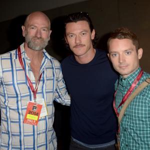 Elijah Wood, Graham McTavish and Luke Evans at event of Hobitas: Penkiu armiju musis (2014)
