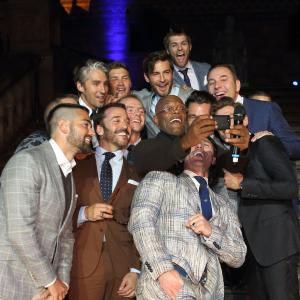 Jahmene Douglas, Samuel L Jackson, Simon Pegg, Jeremy Piven, Bear Grylls, George Lamb, Robert Konijc, Antony Mackie, David Gandy, David Walliams, Luke Evans, Jesse Metcalfe andOliver Cheshire attend One For The Boys Fashion Ball, hosted by Samuel L Jackson which is uniting men against cancer as part of London Collections: Men at Natural History Museum on June 15, 2014 in London, England.