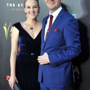Hamish Michael and Kate Mulvany attend the AACTA Awards at The Star in Sydney on January 29 2015