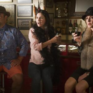 Still of Courteney Cox, Ian Gomez and Christa Miller in Cougar Town (2009)