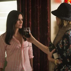 Still of Courteney Cox and Christa Miller in Cougar Town (2009)