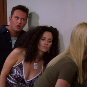 Courteney Cox, Lisa Kudrow and Matthew Perry