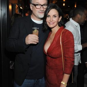 David Fincher and Courteney Cox at event of Just Before I Go (2014)