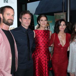 Courteney Cox, Seann William Scott, Kate Walsh, Garret Dillahunt and Olivia Thirlby at event of Just Before I Go (2014)