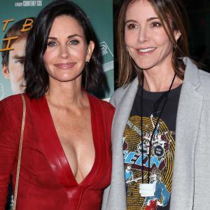 Courteney Cox and Christa Miller at event of Just Before I Go (2014)