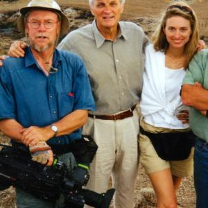 With Peter Hoving and Alan Alda at archaeological dig in Cyprus in 1999 for Scientific American Frontiers