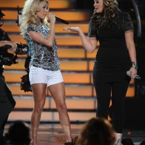 Still of Carrie Underwood and Lauren Alaina in American Idol The Search for a Superstar 2002
