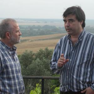 With Mansur Escudero, in Almodovar del Río (Córdoba, Spain) during the shooting of