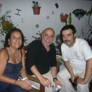 With composer Antonio Meliveo, also producer at Greenmoon, and his wife Pilar, summer 2011