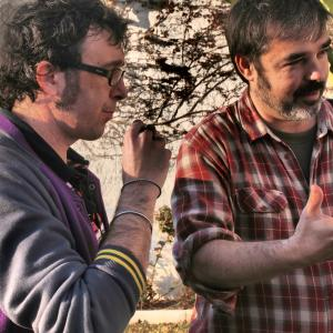 With director and scriptwriter Pablo Ros Cardona during the production of
