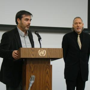 At UN headquarters in NYC presenting the film