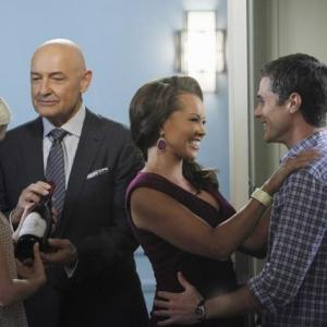 Still of Vanessa Williams, Terry O'Quinn, Rachael Taylor and Dave Annable in 666 Park Avenue (2012)