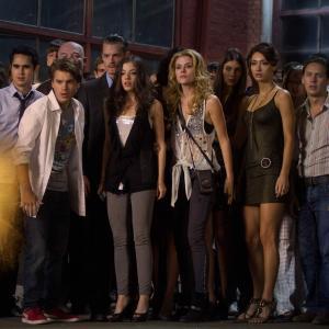 Still of Emile Hirsch, Joel Kinnaman, Max Minghella, Rachael Taylor and Olivia Thirlby in Tamsiausia valanda (2011)