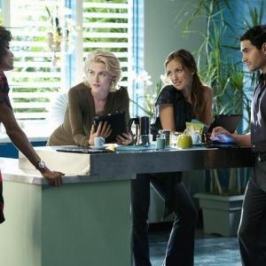 Still of Minka Kelly, Rachael Taylor, Ramon Rodriguez and Annie Ilonzeh in Charlie's Angels (2011)