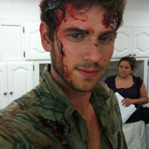 Special Effects makeup by Carlos Savant for the film MOTHMAN Connor Fox