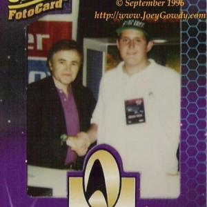 Walter Koenig and Joey Gowdy taken in 1996 at the Star Trek 30th Anniversary Convention