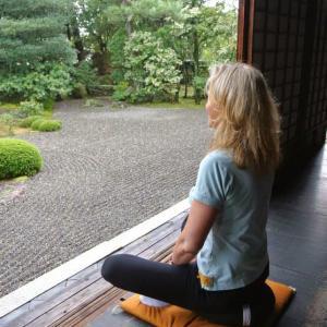 Zazen meditation in Kyoto Japan 2014