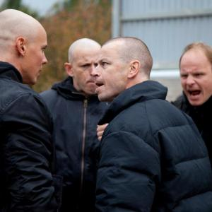 Dome Karukoski directing actors Jasper Pääkkönen, Peter Franzen & Timo Lavikainen in Heart of a Lion