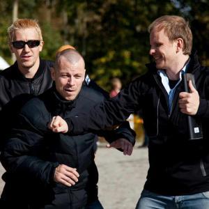 Dome Karukoski directing actors Peter Franzen & Jussi Vatanen in Heart of a Lion