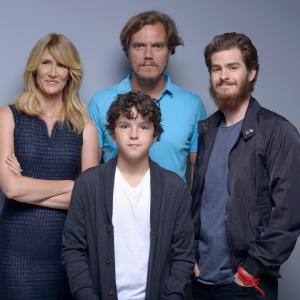 Laura Dern Michael Shannon Andrew Garfield and Noah Lomax at event of 99 Homes 2014