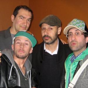 With actorwriter Sean Owen Roberts FX guruBafta WinnerOscar Nom Habib Zargarpour and actorcomedianwriter Maz Jobrani