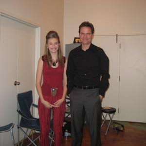 Tiera with Anthony Lemke on the set of Dead Lines