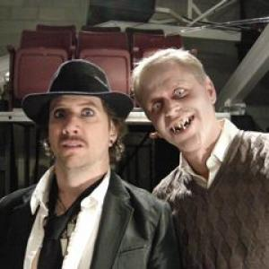 Jamie Kennedy and Thomas Saunders on set of Reaper