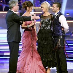 Still of Kirstie Alley Tom Bergeron Brooke BurkeCharvet Hines Ward and Mark Ballas in Dancing with the Stars 2005