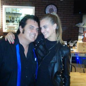 Love at 1st bite? Elvis Guinan and Iz. May 28th 2015
