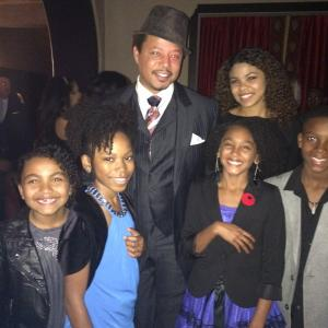 The Best Man Holiday Red Carpet Premiere at the TCL Chinese Theatre Los Angeles CA on Tuesday Nov5 2013 with cast Isis Moore Riele Downs Terrence Howard Shai PierreDixon Linden LilesMcCurdy